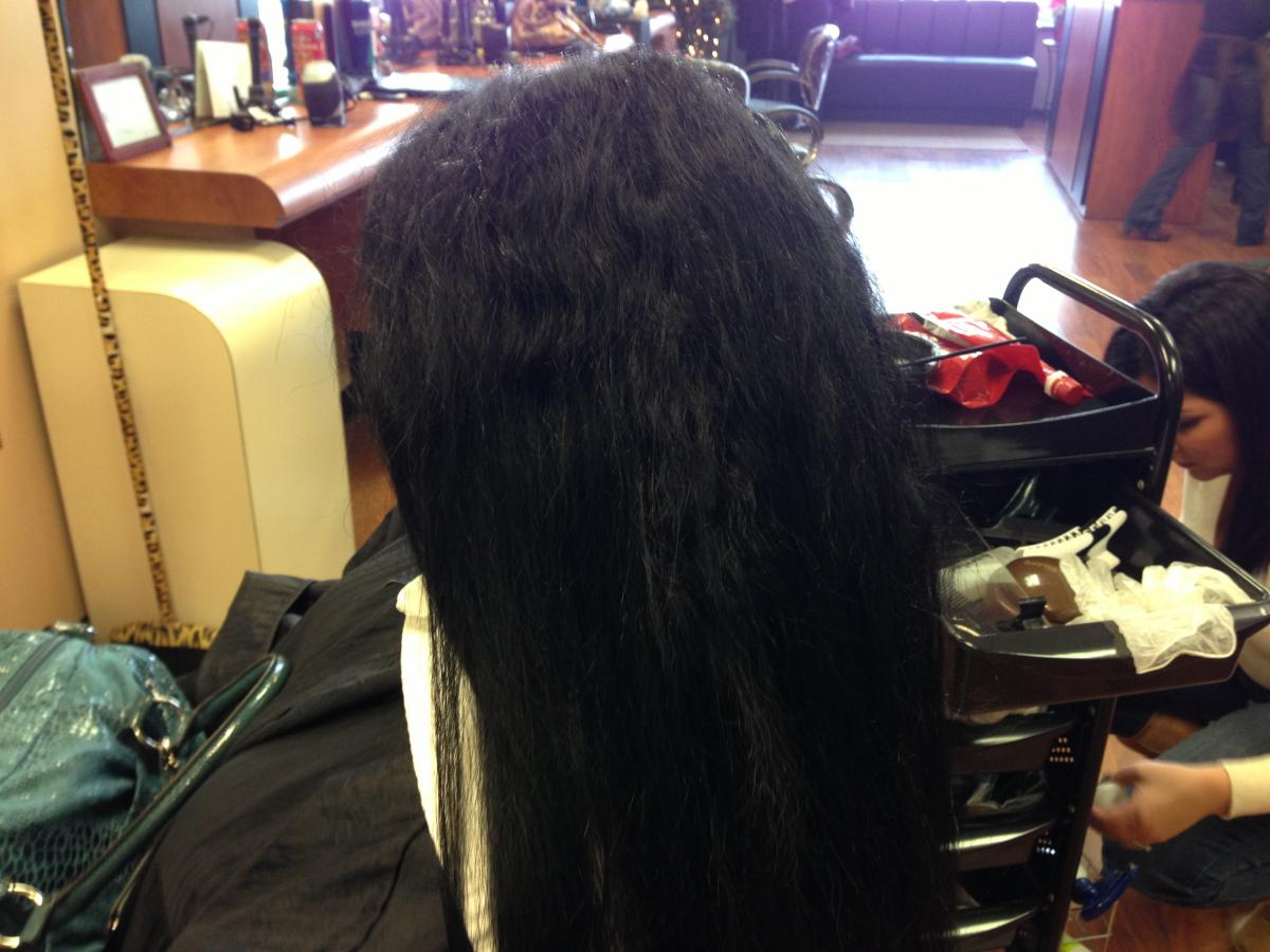 Japanese straightening before and after photo 1