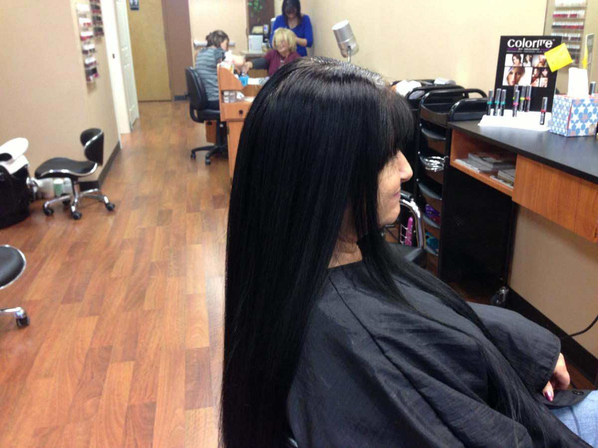 Japanese straightening before and after photo 2